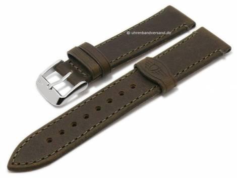 Watch strap -Lawson- 18mm brown genuine buffalo leather vintage look stitched by MORELLATO (width of buckle 16 mm) - Bild vergrößern