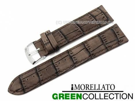 Watch strap 20mm brown -Larice- alligator grain stitched by MORELLATO (width of buckle 18 mm) - Bild vergrößern