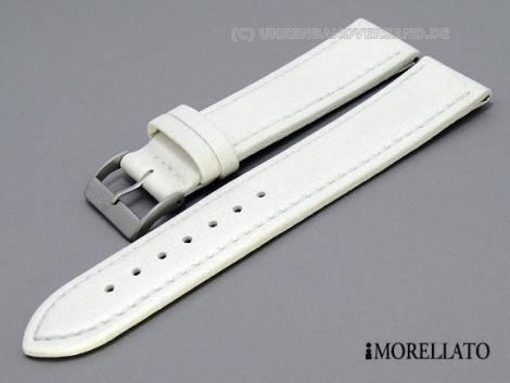 Watch strap -Tipo Locman- XL 20mm white Lorica light stitching MORELLATO (width of buckle 18 mm) - Bild vergrößern