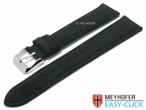 Meyhofer EASY-CLICK watch strap -Wutach- 20mm black VEGAN ALCANTARA suede like (width of buckle 18 mm) - Bild vergrößern