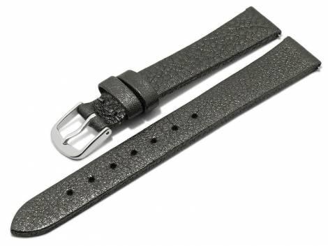 Meyhofer EASY-CLICK watch strap -Washita- 12mm anthracite metallic leather grained (width of buckle 10 mm) - Bild vergrößern