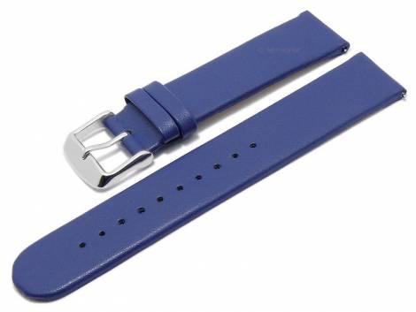 Meyhofer EASY-CLICK watch strap -Grayton- 16mm blue apple fibers VEGAN matt (width of buckle 16 mm) - Bild vergrößern