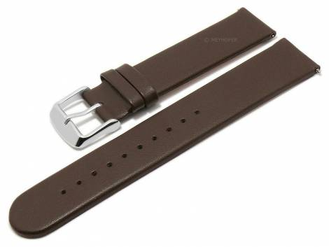 Meyhofer EASY-CLICK watch strap -Grayton- 20mm dark brown apple fibers VEGAN matt (width of buckle 20 mm) - Bild vergrößern