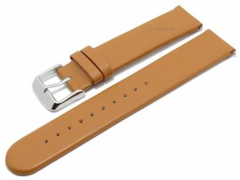 Meyhofer EASY-CLICK watch strap -Grayton- 20mm light brown apple fibers VEGAN matt (width of buckle 20 mm) - Bild vergrößern