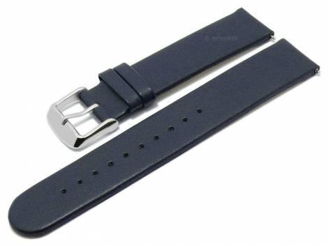 Meyhofer EASY-CLICK watch strap -Grayton- 16mm dark blue apple fibers VEGAN matt (width of buckle 16 mm) - Bild vergrößern