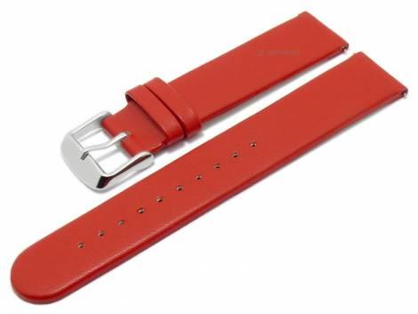 Meyhofer EASY-CLICK watch strap -Grayton- 16mm red apple fibers VEGAN matt (width of buckle 16 mm) - Bild vergrößern