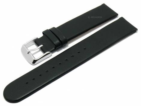 Meyhofer EASY-CLICK watch strap -Grayton- 20mm black apple fibers VEGAN matt (width of buckle 20 mm) - Bild vergrößern