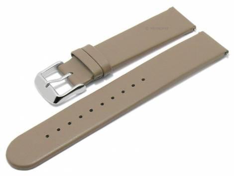 Meyhofer EASY-CLICK watch strap -Grayton- 16mm taupe apple fibers VEGAN matt (width of buckle 16 mm) - Bild vergrößern