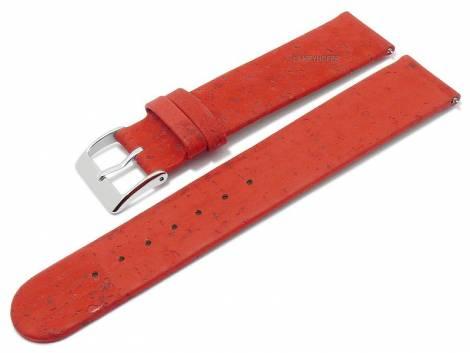 Meyhofer EASY-CLICK watch strap -Tavira- 16mm red genuine cork VEGAN matt (width of buckle 16 mm) - Bild vergrößern