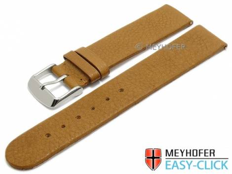 Watch strap Meyhofer EASY-CLICK -Albany- 16mm brown leather vegetable tanned without stitching (width of buckle 16 mm) - Bild vergrößern