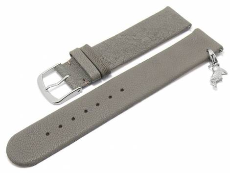 Meyhofer EASY-CLICK watch strap -Zermatt - Charm Toucan- 22mm light grey goat leather grained (width of buckle 22 mm) - Bild vergrößern