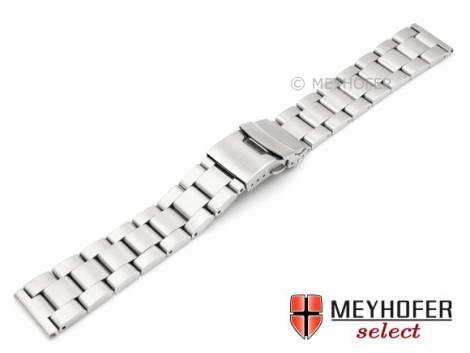 Watch strap -Trogir- 22mm stainless steel solid brushed by MEYHOFER - Bild vergrößern