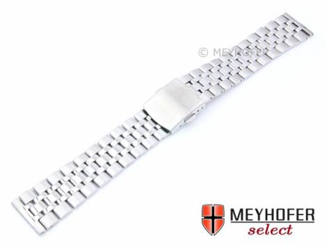 Watch strap -Ludbreg- 18mm stainless steel solid partly polished by MEYHOFER - Bild vergrößern