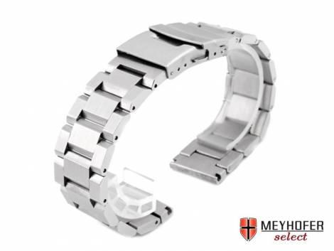 Watch strap -Brioni- 20mm stainless steel solid brushed by MEYHOFER - Bild vergrößern