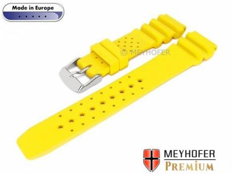 Watch band -Atlantis- 16mm yellow caoutchouc by MEYHOFER (width of buckle 16 mm) - Bild vergrößern