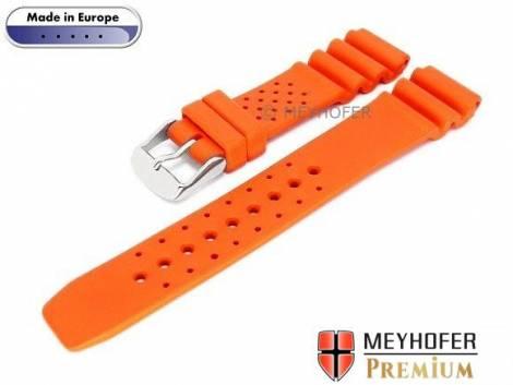 Watch band -Atlantis- 16mm orange caoutchouc by MEYHOFER (width of buckle 16 mm) - Bild vergrößern