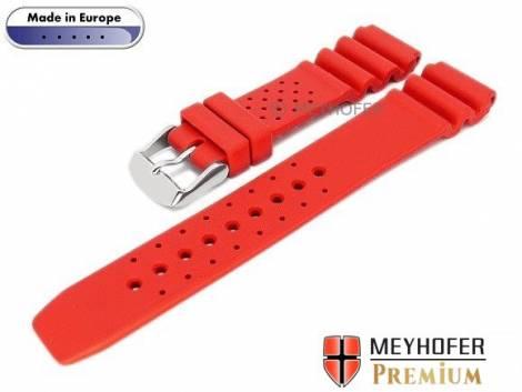 Watch band -Atlantis- 16mm red caoutchouc by MEYHOFER (width of buckle 16 mm) - Bild vergrößern