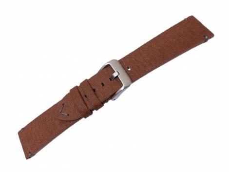 Watch strap -Boulder- 20mm light brown from pineapple fibers VEGAN matt by MEYHOFER (width of buckle 18 mm) - Bild vergrößern