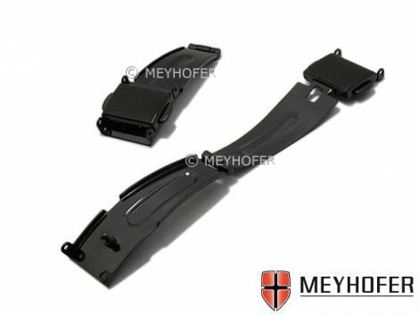 Clasp -Ginnheim- 14mm black stainless steel 2 push buttons - Bild vergrößern
