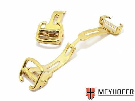 Flip clasp -Iserbrook- 12mm golden stainless steel polished suitable for CARTIER a.o. - Bild vergrößern