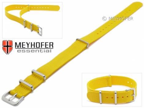 Watch strap -Kearney- 16mm yellow textile/synthetic one-piece strap in NATO style by MEYHOFER - Bild vergrößern