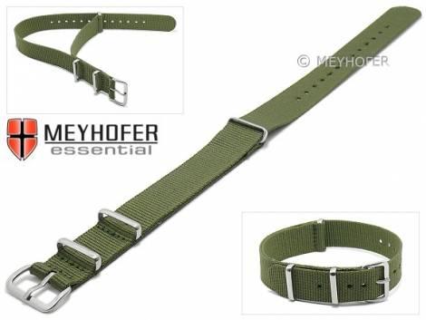 Watch strap -Kearney- 14mm oliv textile/synthetic one-piece strap in NATO style by MEYHOFER - Bild vergrößern