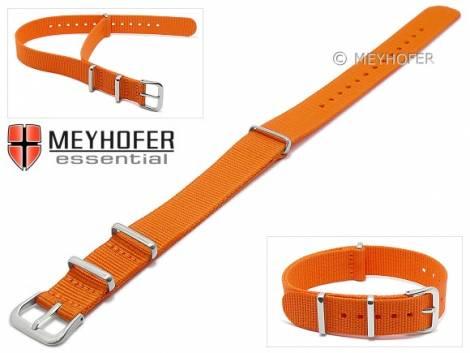 Watch strap -Kearney- 16mm orange textile/synthetic one-piece strap in NATO style by MEYHOFER - Bild vergrößern
