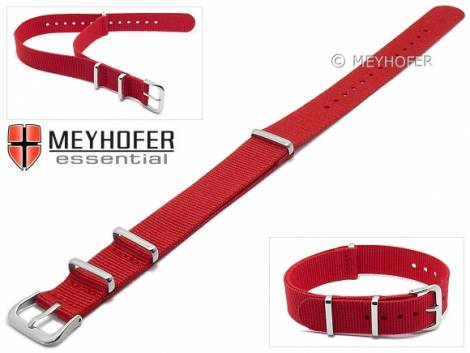 Watch strap -Kearney- 16mm red textile/synthetic one-piece strap in NATO style by MEYHOFER - Bild vergrößern