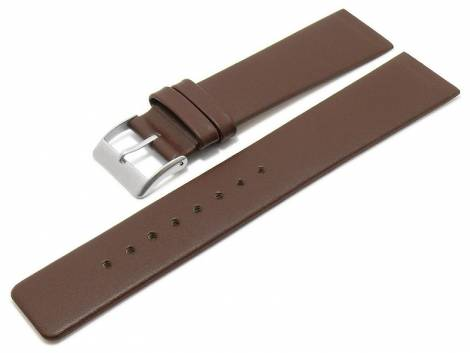Watch strap -Sandpoint- 22mm brown leather special lug ends for screwed casings by MEYHOFER (width of buckle 20 mm) - Bild vergrößern