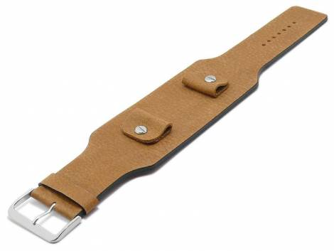 Watch strap -Karasburg- 20-22-24mm multiple ends brown leather antique look leather without stitching pad MEYHOFER - Bild vergrößern