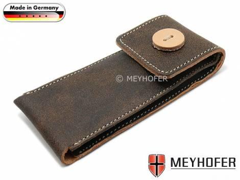 Watch case -Nassau- MADE IN GERMANY dark brown for 1 watch leather vintage look by MEYHOFER - Bild vergrößern