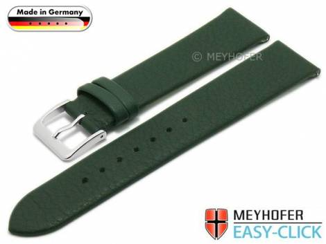 Meyhofer EASY-CLICK watch strap XS -Weser- 16mm dark green leather smooth without stitching (width of buckle 16 mm) - Bild vergrößern