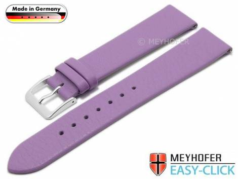 Meyhofer EASY-CLICK watch strap XS -Weser- 16mm lilac leather smooth without stitching (width of buckle 16 mm) - Bild vergrößern