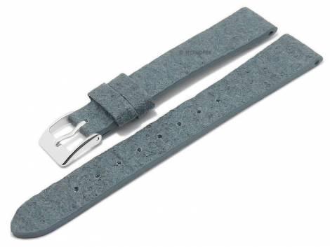Watch strap -Waterbury- 14mm blue from pineapple fibers VEGAN matt by MEYHOFER (width of buckle 12 mm) - Bild vergrößern