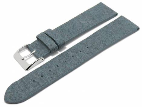 Watch strap -Waterbury- 22mm blue from pineapple fibers VEGAN matt by MEYHOFER (width of buckle 20 mm) - Bild vergrößern