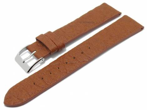 Watch strap -Waterbury- 16mm light brown from pineapple fibers VEGAN matt by MEYHOFER (width of buckle 14 mm) - Bild vergrößern