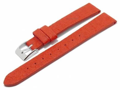 Watch strap -Waterbury- 14mm red from pineapple fibers VEGAN matt by MEYHOFER (width of buckle 12 mm) - Bild vergrößern