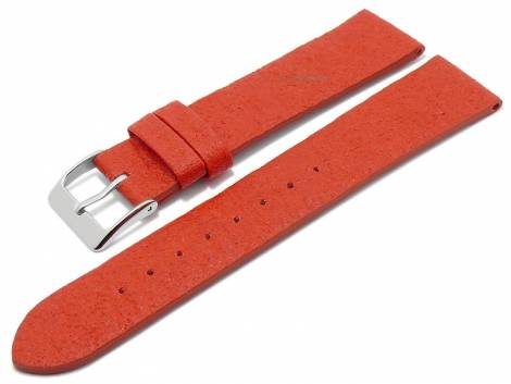 Watch strap -Waterbury- 22mm red from pineapple fibers VEGAN matt by MEYHOFER (width of buckle 20 mm) - Bild vergrößern