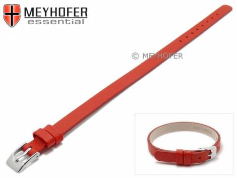 Watch strap -Kufstein- 08mm red leather smooth by MEYHOFER - Bild vergrößern
