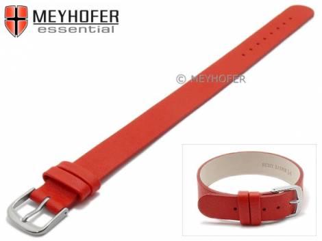 Watch strap -Kufstein- 10mm red leather smooth by MEYHOFER - Bild vergrößern