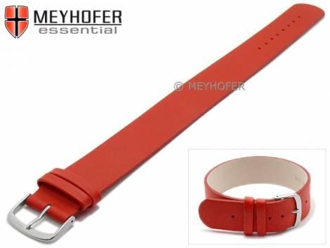 Watch strap -Kufstein- 16mm red leather smooth by MEYHOFER - Bild vergrößern