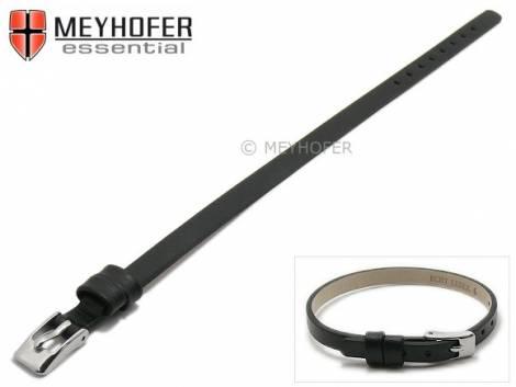 Watch strap -Kufstein- 08mm black leather smooth by MEYHOFER - Bild vergrößern