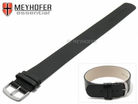 Watch strap -Kufstein- 16mm black leather smooth by MEYHOFER - Bild vergrößern