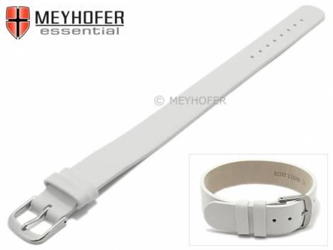 Watch strap -Kufstein- 12mm white leather smooth by MEYHOFER - Bild vergrößern