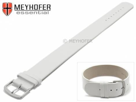 Watch strap -Kufstein- 16mm white leather smooth by MEYHOFER - Bild vergrößern