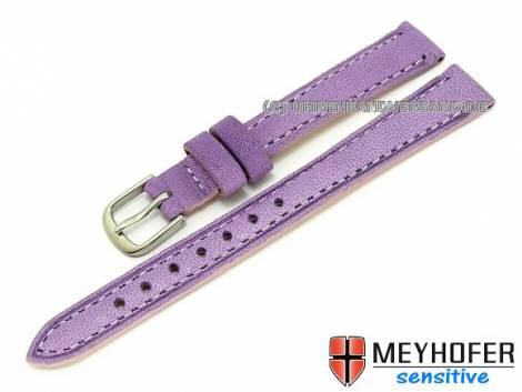 Watch band -Alvesta- 12mm violet grained genuine calf leather MEYHOFER (width of buckle 10 mm) - Bild vergrößern