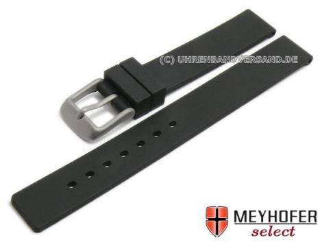 Watch strap -Lichtenfels- 14mm black silicone with titanium buckle by MEYHOFER (width of buckle 14 mm) - Bild vergrößern