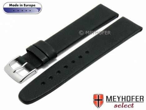 Watch strap L (long) -Foggia- 24mm black leather vintage look by MEYHOFER (width of buckle 20 mm) - Bild vergrößern