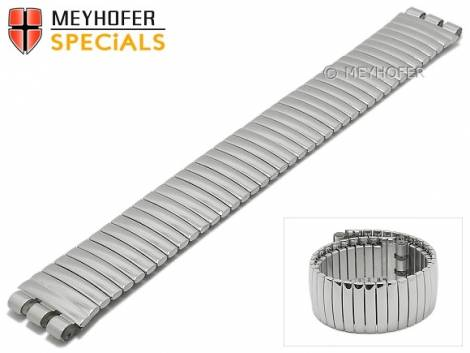 Watch strap -Cortland- 19mm silver stainless steel polished expansion band suitable for SWATCH by MEYHOFER - Bild vergrößern