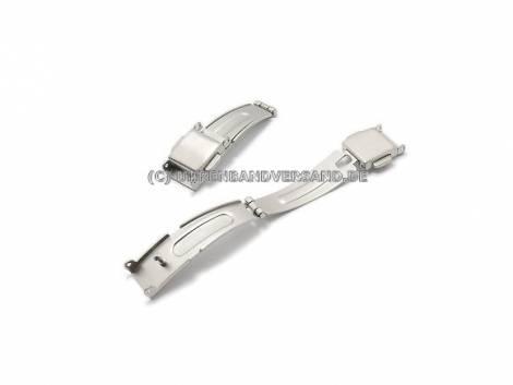 Clasp (PbMFS-5157) 10mm stainless steel 2 push buttons for metal watch straps - Bild vergrößern